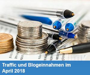 Traffic und Blogeinnahmen im April 2018