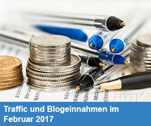 Traffic und Blogeinnahmen im Februar 2017