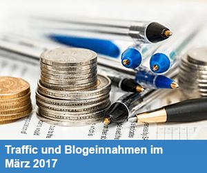 Traffic und Blogeinnahmen im März 2017